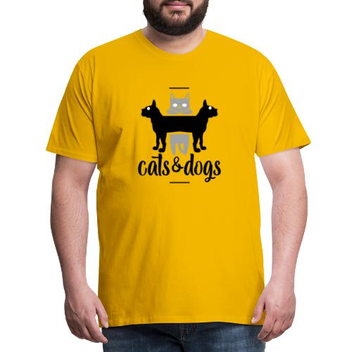 Chats et chiens - Chat et chien - T-shirt Premium Homme