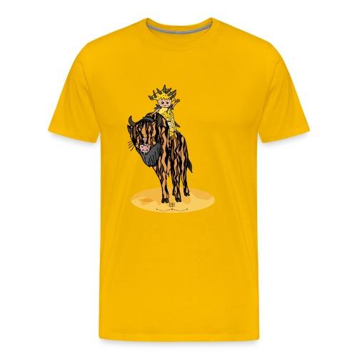 Energiewesen Tigerlus mit Arena - Männer Premium T-Shirt