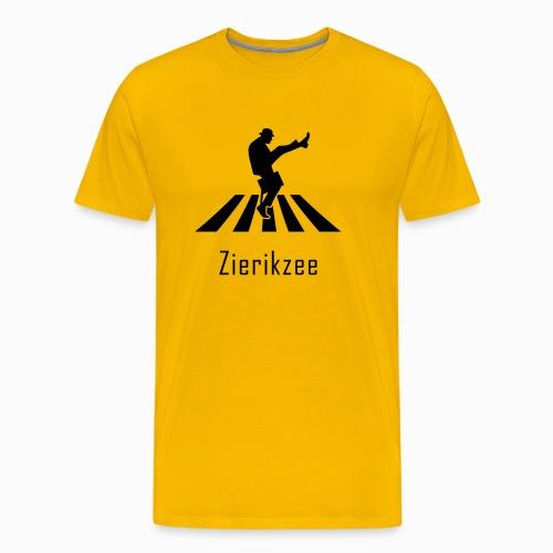 Silly walk zebrapad verkeersbord Zierikzee Zeeland - Mannen Premium T-shirt