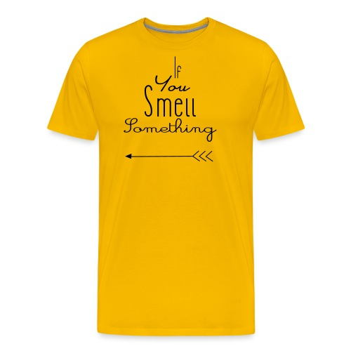 If You Smell Something Left Twins Rompertje - Mannen Premium T-shirt
