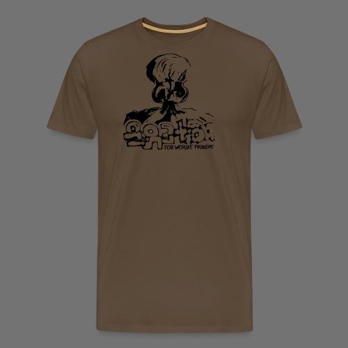 Ei Solution (musta) - Miesten premium t-paita