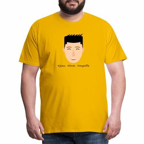 jesus loves myselfie - Männer Premium T-Shirt
