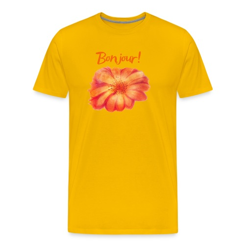 Bonjour ma Fleur Orange Qinspi - T-shirt Premium Homme