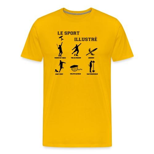 le sport illustre noir png - T-shirt Premium Homme