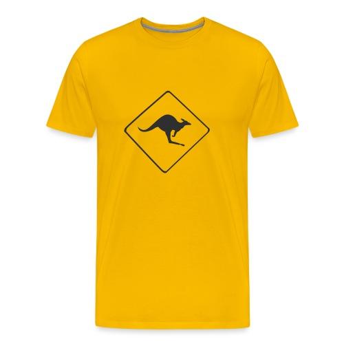 Känguru Schild - Männer Premium T-Shirt