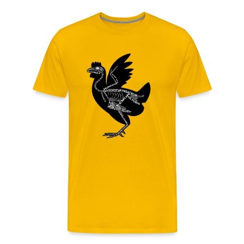 Huhn-Skelett - Herre premium T-shirt