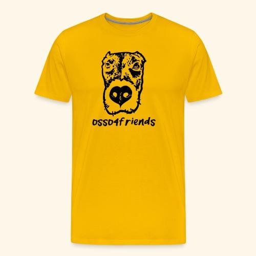 Logo NERO TRASPARENTE creative - Maglietta Premium da uomo