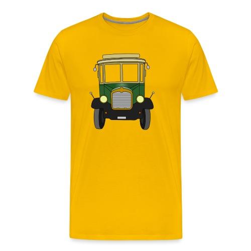 Oldtimer Ansicht von vorne (schwarz) - Männer Premium T-Shirt
