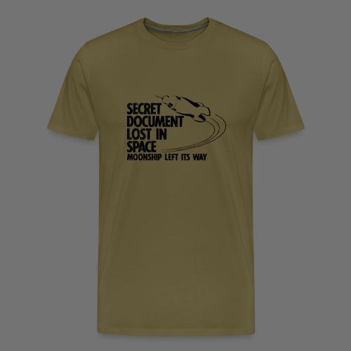 Kadonnut asiakirja (musta oldstyle) - Miesten premium t-paita