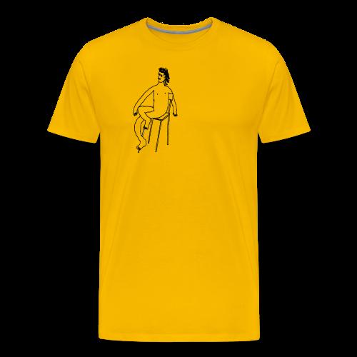 Sitting Boy - Männer Premium T-Shirt
