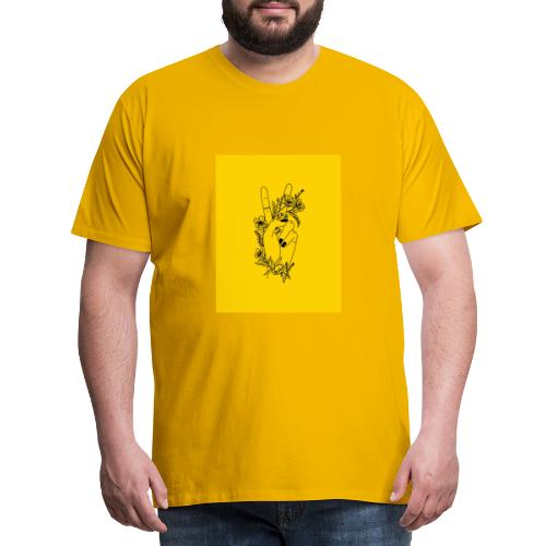 Yellow Peace Symbol Art - Men's Premium T-Shirt