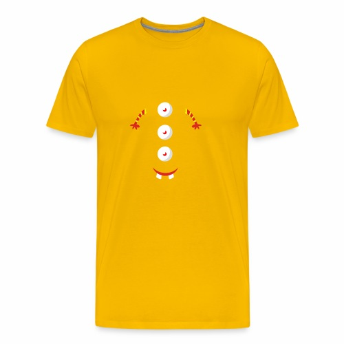 3 eyed button design - Men's Premium T-Shirt