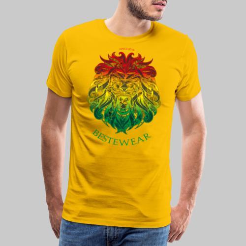 #Bestewear - Rastafari Lion - Männer Premium T-Shirt