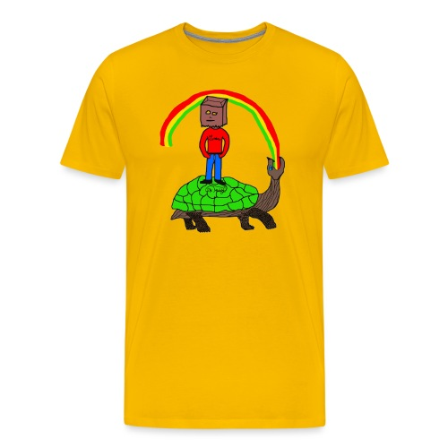 schildkröte Schildkröte Regenbogen - Männer Premium T-Shirt