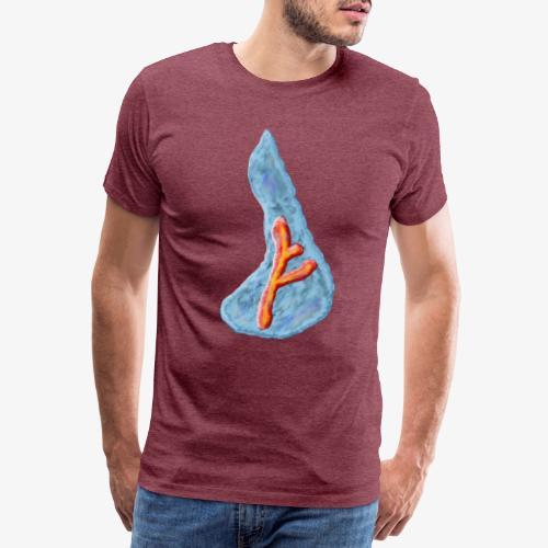 Wassermotiv mit Rune - Männer Premium T-Shirt