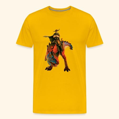 Dino Storm Cowboy - Men's Premium T-Shirt