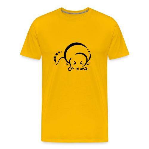Loutre, design tribal épuré - T-shirt Premium Homme