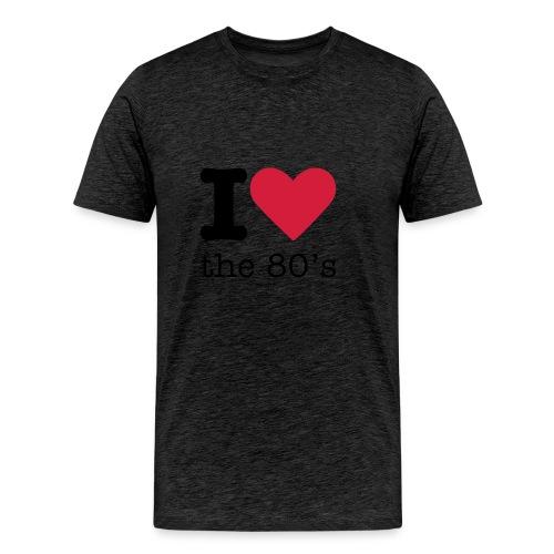 I Love The 80 s - Mannen Premium T-shirt