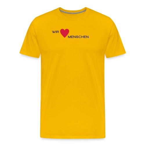 Wir lieben Menschen - Männer Premium T-Shirt