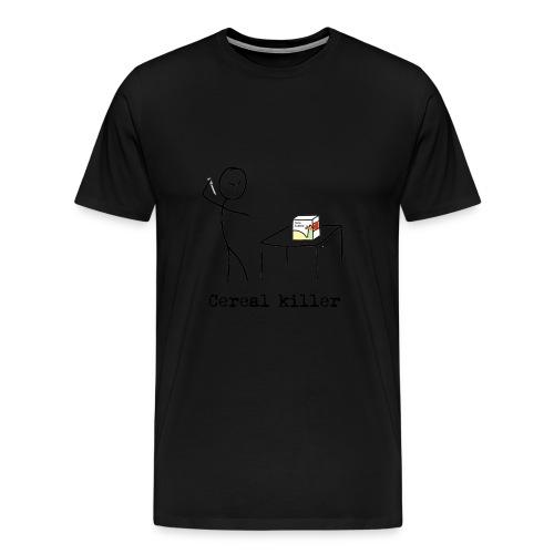 cereal killer png - Premium T-skjorte for menn