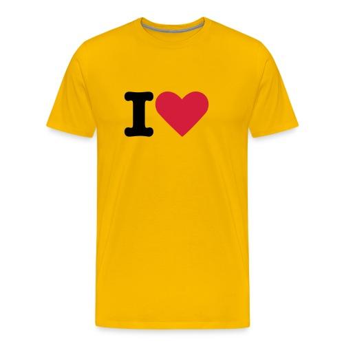 Ik hou - Mannen Premium T-shirt