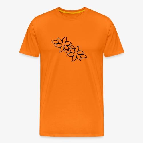 flowers - Herre premium T-shirt