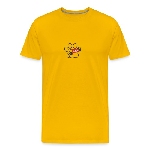 Hundepfote Haustierhero groß - Männer Premium T-Shirt