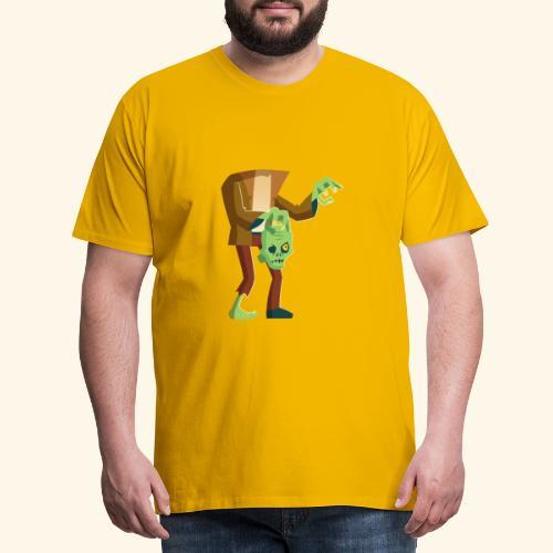 Frankenstein mit Kopf in der Hand - Männer Premium T-Shirt