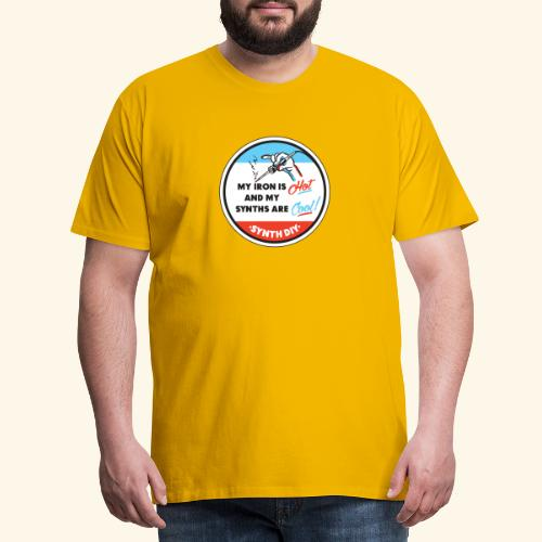 synthcool - Miesten premium t-paita