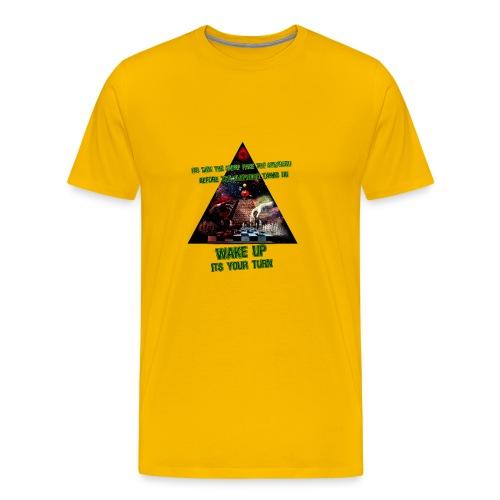 lys illuminati chess - Herre premium T-shirt