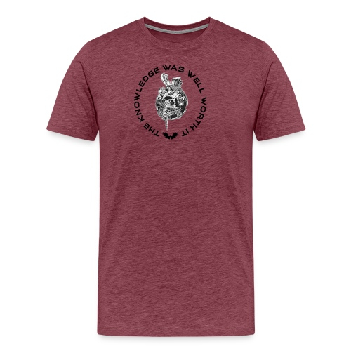Knowledge WhiteSkull - Miesten premium t-paita