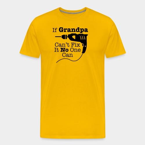 Grandpa with drillingmachine - Herre premium T-shirt