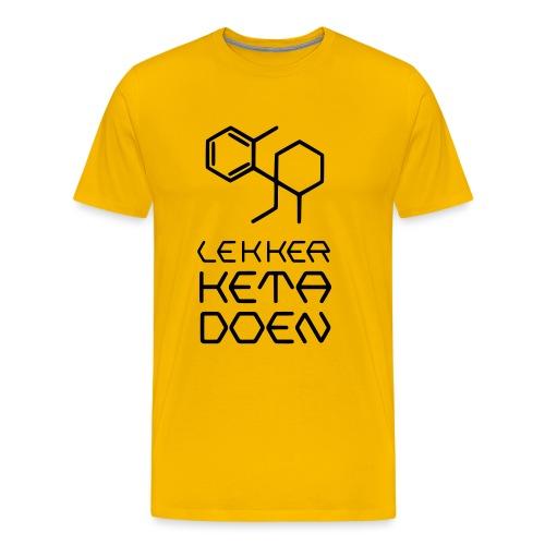 Lekker Keta Doen (zwarte opdruk) - Mannen Premium T-shirt