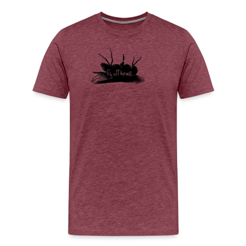 fly off the wall text - Premium-T-shirt herr