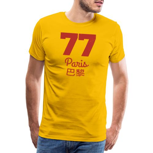 77 paris - Männer Premium T-Shirt
