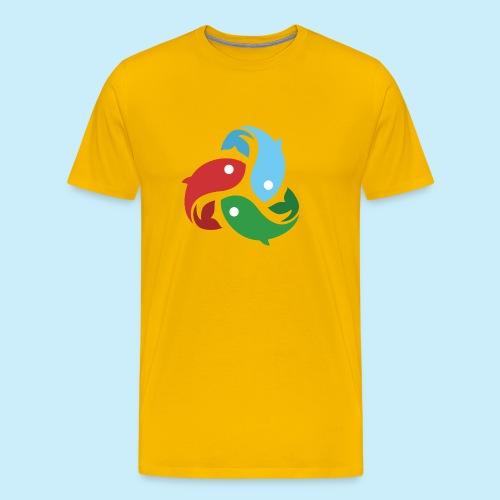 De fiskede fisk - Herre premium T-shirt