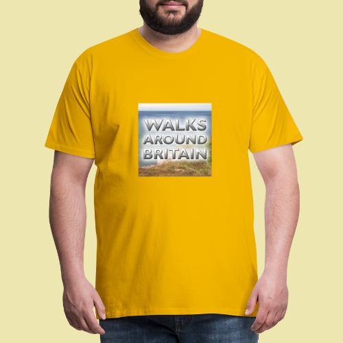 Walks Around Britain square logo - Men's Premium T-Shirt
