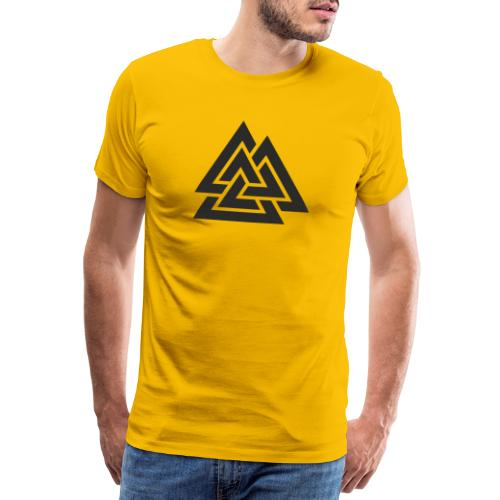 Valknut. Símbolo vikingo - Camiseta premium hombre