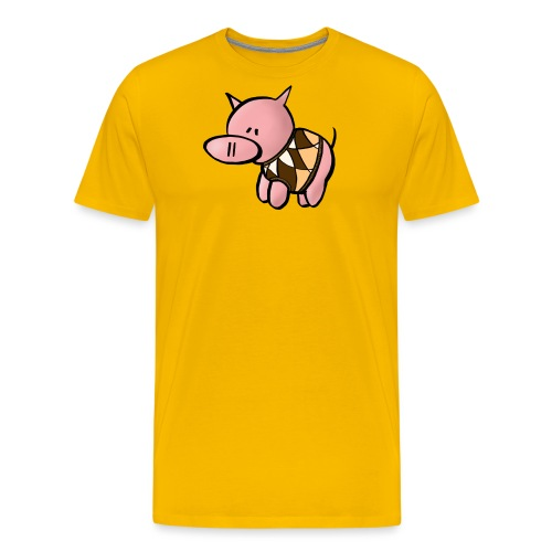 Grisen i pullover - Premium-T-shirt herr