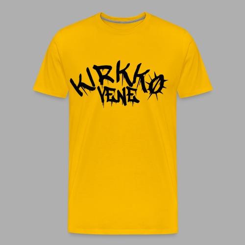 kirkkovenelogo_musta - Miesten premium t-paita