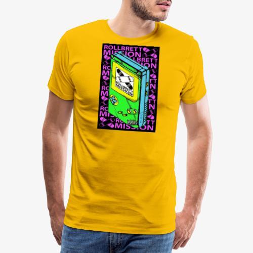 Schwarzer Spielspaß - Männer Premium T-Shirt