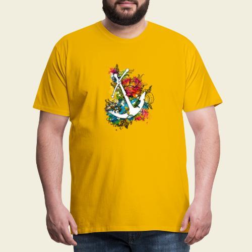 Echte Anker haben Kurven - Männer Premium T-Shirt