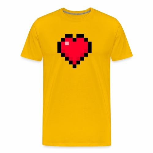 Cuore di pixel - Maglietta Premium da uomo