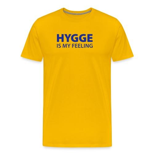 Hygge is my Feeling Glück Zufriedenheit It-Word - Men's Premium T-Shirt