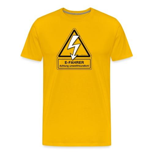 E-FAHRER Achtung umweltfreundlich! - Männer Premium T-Shirt