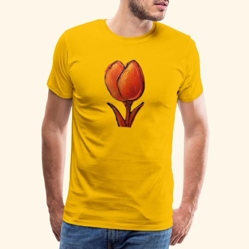 TULIP ORANGE - Mannen Premium T-shirt