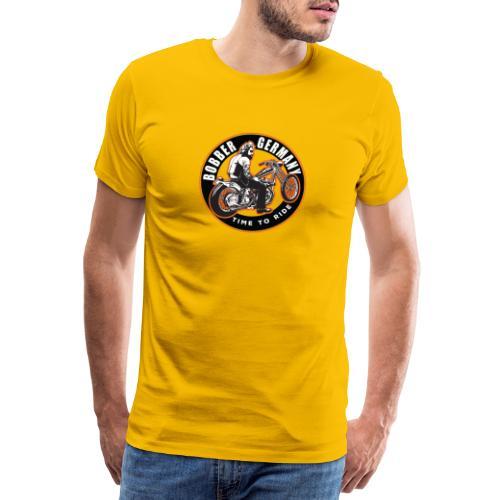 Bobber Germany - Chopper Motorrad Racing HD Custom - Männer Premium T-Shirt