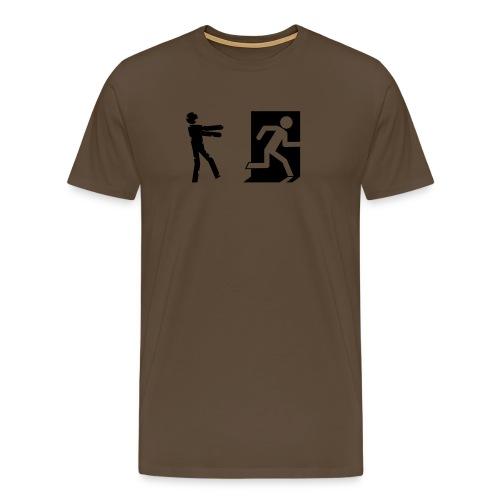 Zombie Invasion Notausgang - Männer Premium T-Shirt