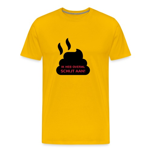 Grappige Rompertjes: Ik heb overal schijt aan - Mannen Premium T-shirt