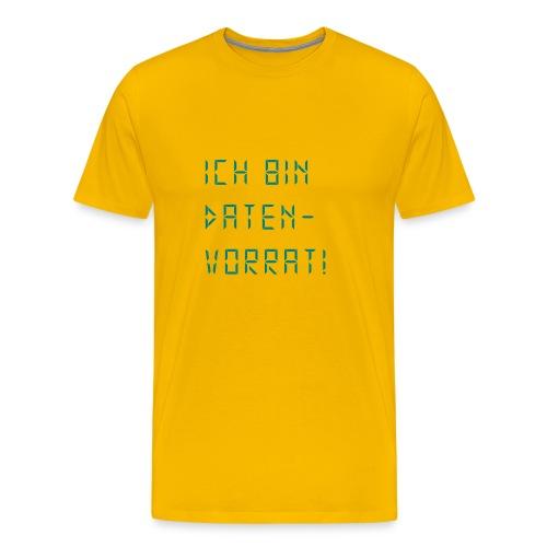 Ich bin Datenvorrat ! - einfarbig - Männer Premium T-Shirt